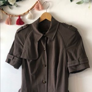 ESCADA Brown Midi Shirt Dress size 34